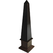 Grand Tour Ebonized Wood and Bronze Clad Obelisk