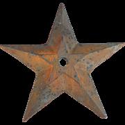 "Cast Iron Architectural Element Lone Star 16"""
