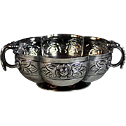 Mexican Sterling Silver Bonboniere Candy Dish with Flowers