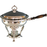 Gorham Silverplate Chafing Dish with Cover and Pyrex Liner Silver Plate