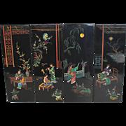 Antique Chinese Coromandel Panels Screens Wall Art