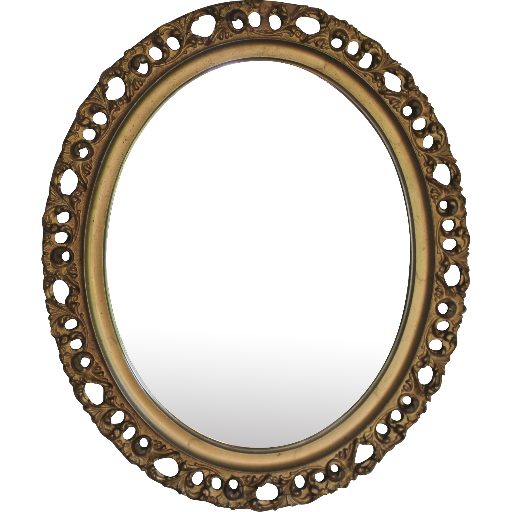 antique italian gilt wood florentine oval mirror from. Black Bedroom Furniture Sets. Home Design Ideas