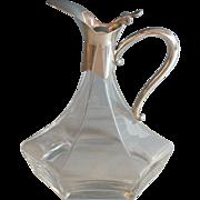 Antique French Six Sided Claret Jug/Wine Decanter, Unique Design