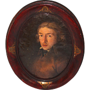 Oil on Canvas portrait of a French Gentleman 18th Century