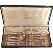 Set Christofle  Vendome Arcantia Cake Server & 12 Forks Boxed