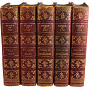 The Works of Edgar Allen Poe Ten Volumes in 5 Books Jefferson Press