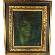 Oil on Canvass Portrait by American listed artist Lester Russon (1925-1988)