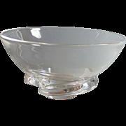 Steuben Spiral Crystal Bowl by Donald Pollard
