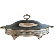 Elegant Vintage Silverplate Serving Dish with Cover Ovenware