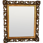 Antique Italian Gilt Wood Florentine Mirror