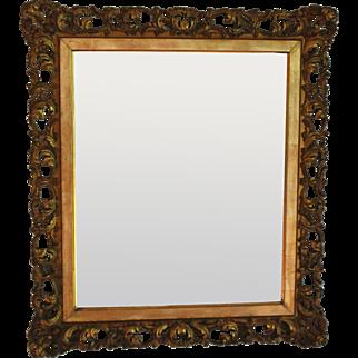 Antique Italian Gilt Wood Florentine Mirror
