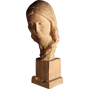 Terra Cotta Sculpture of a woman by Italian Sculptor Ugo Cipriani (1887-1960)