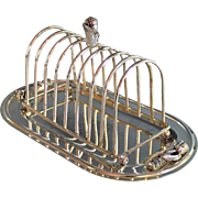 Antique Silverplate Ornate Toast Rack Silver Plate