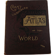 1889 Cram's Unrivaled Family Atlas of the World. Indexed