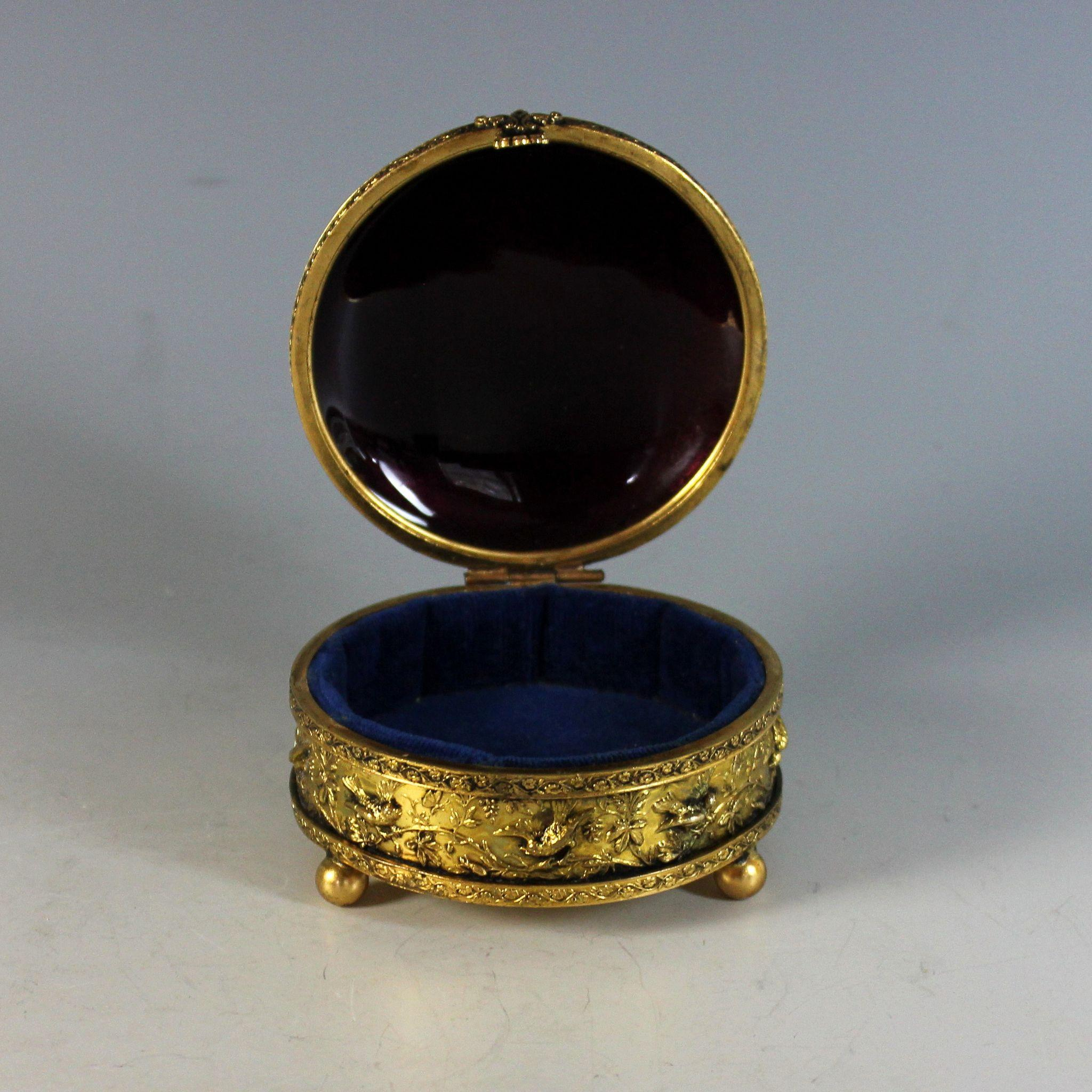 Limoges France Porcelain Gold Plated Trinket Box / Jewelry |Limoges Jewelry