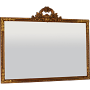 Antique Gilded Louis XV Style Over Mantle Mirror