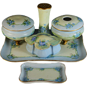 Vintage Limoges and Austrian Porcelain Dresser set