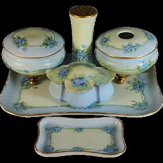 Vintage Limoges and Austrian Porcelain Dresser set