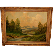 Oil on Canvas Landscape Painting by Tiller