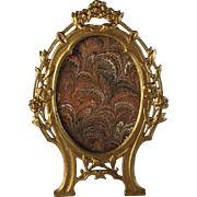 Gilt Metal Oval Picture Photo Frame