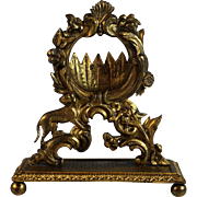 Antique Gilded Metal Watch Holder Porte Montre