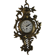 Antique French Buney Bronze Wall Clock