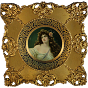 Antique Vienna Art Plate Possibly Meek With Frame