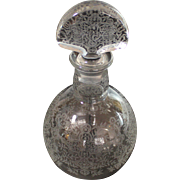 Vintage Baccarat Etched Crystal Decanter Marillon France Heavy Stopper