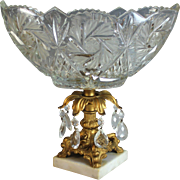 Vintage Cut Glass Pedestal Centerpiece