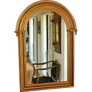 Large Antique Gilded Dome Top Mirror