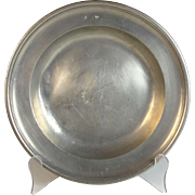 19th C James Stanton London Hallmarked, English Pewter Plate
