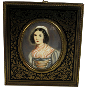 Antique Miniature Portrait of Helene Sedlmeyer