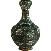 Lotus Blossom Cloisonne Champleve Well Shaped Vase early 20th Century