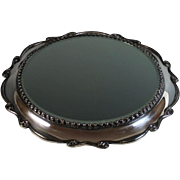 Antique Silverplate Mirrored Plateau Silver Plate