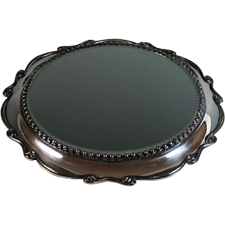 Antique Silverplate Mirrored Plateau Silver Plate