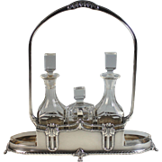 Antique WMF Silverplate Cruet Set Silver Plate
