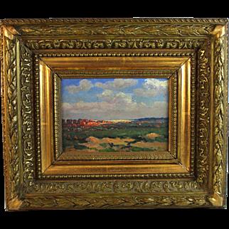 Oil on Panel Impressionist Landscape French School signed J. Franz
