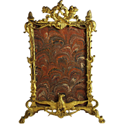 Antique French Gilded Bronze Photo Frame Napoleon III