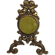 Vintage Bronze Pocket Watch Holder Porte Montre with Putti
