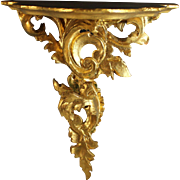 Vintage Ornate Gilded Florentine Carved Wall Shelf/ Bracket