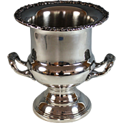 Vintage Silverplate Wine Champagne Bucket, Cooler, great trim Silver Plate