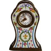 Antique French Enameled Officer's Clock Carriage Clock