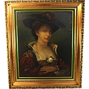 Oil on Canvas European School Portrait of a Lady