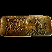 Max Le Verrier Bronze Pen Tray Dish Course D'Herakles