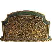 Max Le Verrier Bronze Letter Holder Hunting Scene