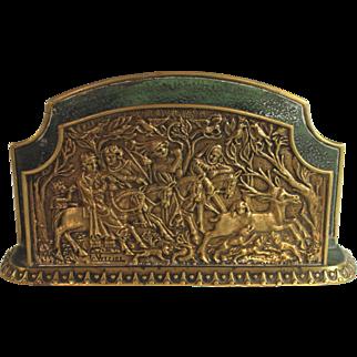 Max Le Verrier Bronze Letter Holder Hunting Scene