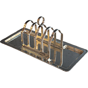 Antique English Silver Plate Toast Rack Silverplate