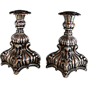 Vintage Danish Silver Plate Candle Sticks Silverplate