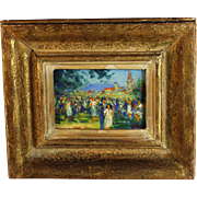 Oil on Canvas Painting by French Listed artist Georges Maury  (1872..) B