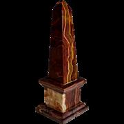 Vintage Rosso Antico Marble Obelisk